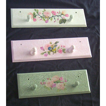 Percheros De Madera Con Decoupage