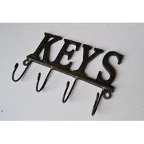 Porta Llaves Llavero Keys Hierro Estilo Antiguo