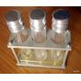 Perfumes Y Otros - 3 Frascos Soportes Vidrio Plastico
