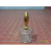 Frasquito En Miniatura De Perfume Con Tapa Dorada Antiguo