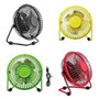 Ventilador Metalico Escritorio Colores Usb / Pared Miniturbo