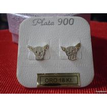 Chihuahua - Aros Plata 925 - Oro 18k.