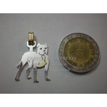 Pit Bull - Dije Plata 925 - Oro 18k