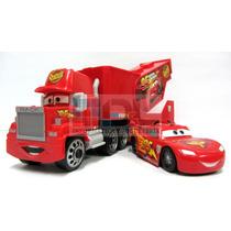 Cars Camión Mack 30cm Y Rayo Mc Queen Gran Blister Gigante !