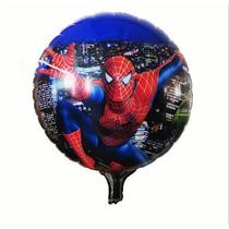 Set X 10 Globos Metalizados De Hombre Araña Spiderman 45 Cm