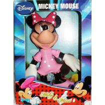 Muñeco Minnie Mouse De 18 Cmts. Con Sonidos Y Luz