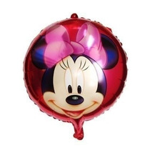 Set X 10 Globos Metalizados De Minnie 45 Cm