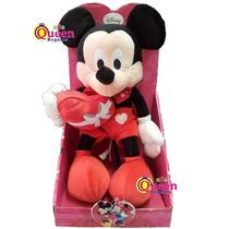 Mickey Mouse Peluche 25cm Enamorado En Caja Con Corazon