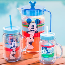 Jarro Vaso Mickey Mouse Con Sorbete Summer Fun Disney Store