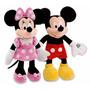Peluche Mickey + Minnie Rosa Con Sonido, Habla Y Canta, 52cm
