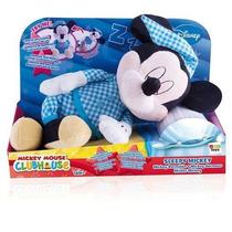 Mickey Dormilon Peluche Con Sonidos Bosteza Ronca Imc Toys