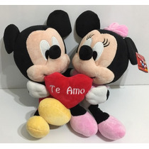 Disney Peluche Mickey Y Minnie Corazon Zap 26308