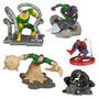 Spider Man Hombre Araña Set 5 Figuras Disney Adornos Torta