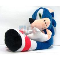 Sonic Peluche Retro Sega Gran Tamaño 42 Cm Idéntico Miralo !