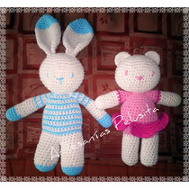 Muñeco Amigurumi, Conejo U Oso. Tejido Crochet Artesanal.