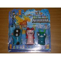 3 Figuras Goma Slugterra Bajoterra Babosas
