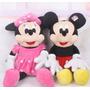 Pareja Minnie Mouse Rosa Y Mickey Habla Y Canta 35 Cm