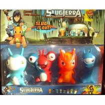 Bajoterra Slugterra Set De 4 Babosas!!