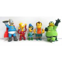 Simpsons X5 Muñecos Bart Homero Ideal Adorno Decorar Tortas