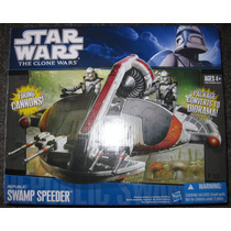 Star Wars, Swamp Speeder Tcw, Nueva En Caja Hasbro Oferta! .