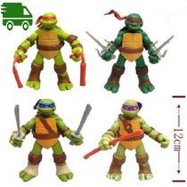 Tortugas Ninjas. Set X 4 Muñecos Articulados. Envio Gratis