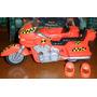 Vehicu Original Tyco Crash Dummies Moto Crash N Dash Chopper