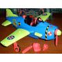 Vehiculo Original Tyco Crash Dummies Avion Crash Plane
