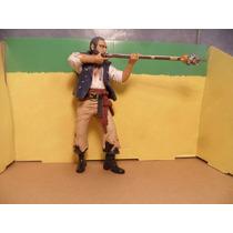 Piratas Del Caribe Gibs Con Rifle Muñeco De 20 Cm Alto