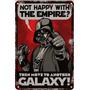 Cartel Chapa Guerra De Las Galaxias Star Wars 20x30cm Fi-354