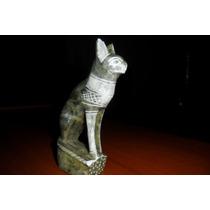 Antigua Escultura. Gato Egipcio