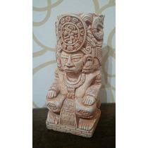 Escultura Dios Maya Del Sol Ak Kin Piedra Caliza