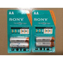 Pilas Recargables Sony Cycle Energy Aa 4600mah Oferta !!