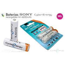 Pilas Recargable Sony Cycle Energy Aa Extra Duración 4600mah