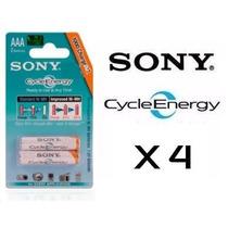 4 Pilas Recargables Sony Original Cycle Energy Aaa 4300 Mah