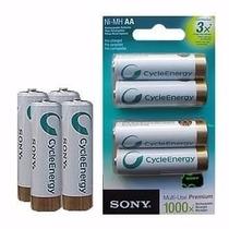 Pilas Recargables Sony Aa 2100 Mah Blister Por 4 Unidades