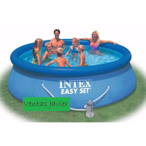 Pileta Inflable Intex Easy Set 244x76 + Algas De Regalo!