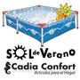 Pileta De Lona Sol De Verano Super150 1100lts 2.05x1.30x040