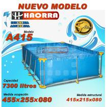Pileta De Lona 455x255x080 Medida Ocupación -garantia 5 Años