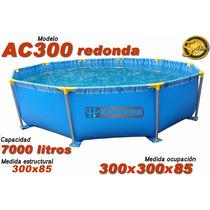 Pileta Lona Redonda 300x85 Medida Ocupación-garantia 5 Años