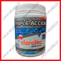 Clorotec - Cloro Pastilla Triple Accion Grande X 1 Kilo