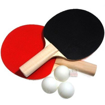Set Ping Pong 2 Paletas + 3 Pelotas Pack Tenis De Mesa Nuevo