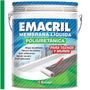 Membrana Liquida Poliuretanica Verde Emacril X 20 Kg Techo