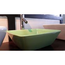 Bacha De Apoyo De Ceramica Color Verde 36x31,5x12