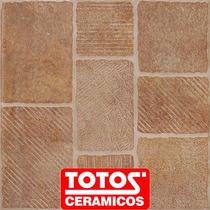 Ceramica De Patio Rucamalen Rosso 45x45 Alto Transito Totos