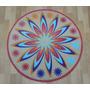 Carpeta Alfombra Mandala Redonda Diam100 Cm, Fundasoul