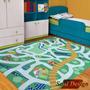 Carpeta Alfombra Calles Pista 100 X 150cm Infantil Fundasoul