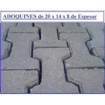 Adoquines De Cemento De 20x14x8de Espesor
