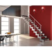 Escaleras Hierro C/ Madera + Barandas Inoxidable