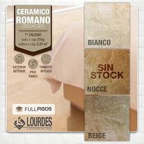 Ceramica Lourdes Romano Bianco Noce Y Beige 35x35. La Plata