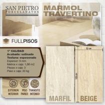 Porcelanato Marmol Travertino 52x105cm Oferta!! La Plata